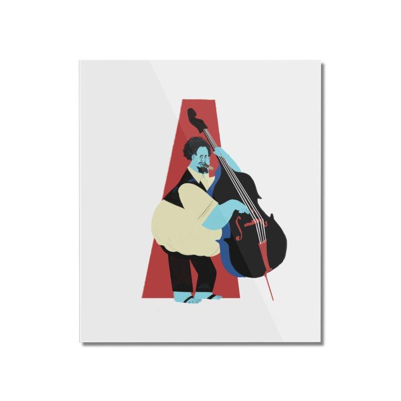 Charles Mingus Home Mounted Acrylic Print by Kanjano Shop