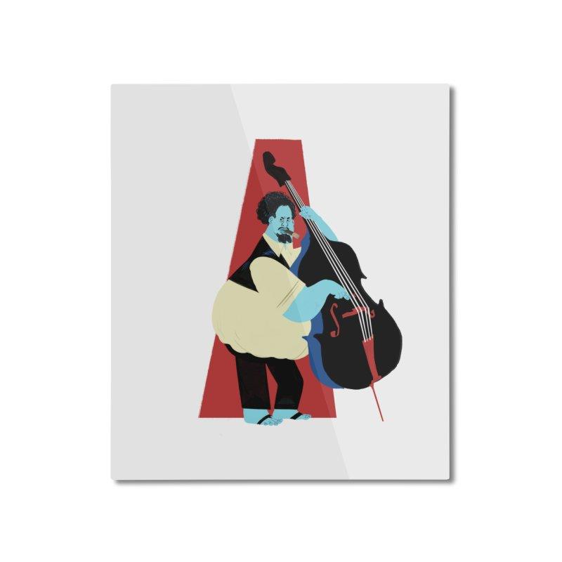 Charles Mingus Home Mounted Aluminum Print by Kanjano Shop