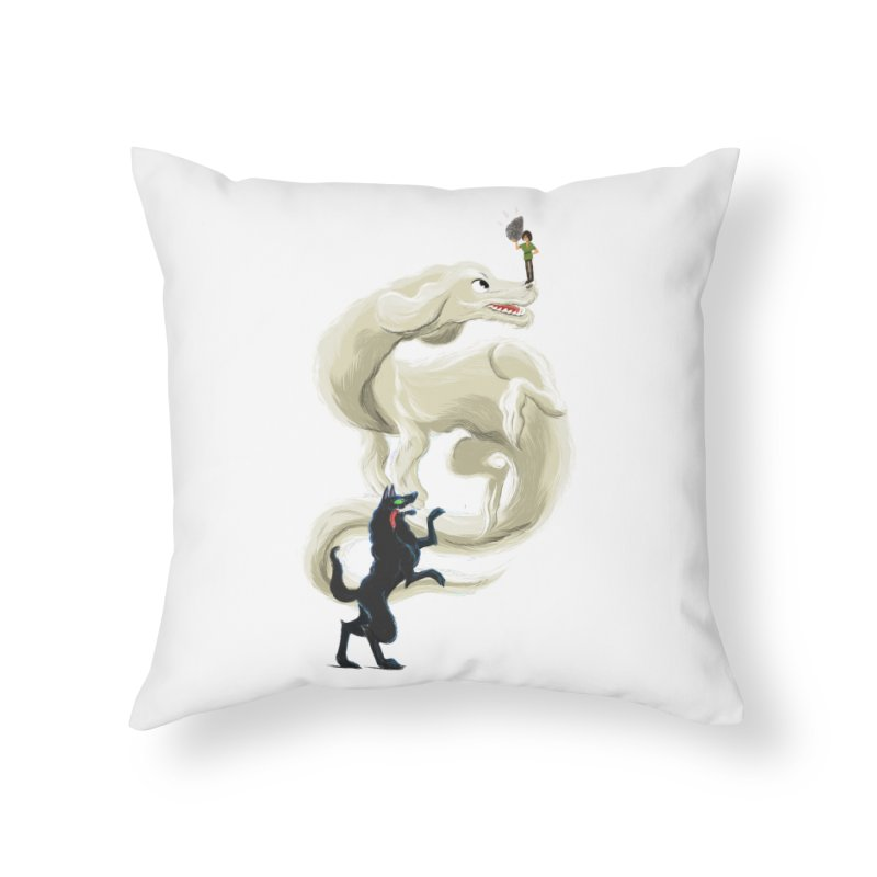 Neverending Story Home Throw Pillow by Kanjano Shop
