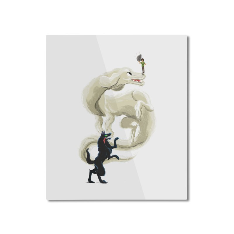 Neverending Story Home Mounted Aluminum Print by Kanjano Shop