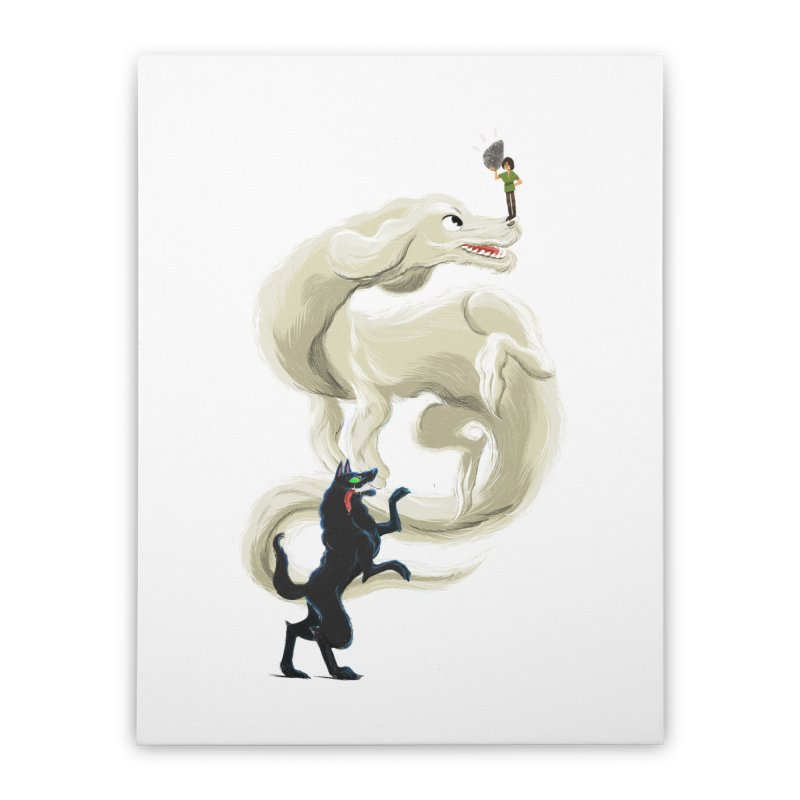 Neverending Story Home Stretched Canvas by Kanjano Shop