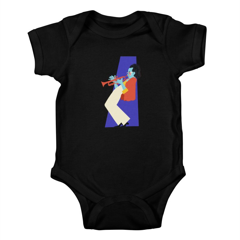 Miles Davis Kids Baby Bodysuit by Kanjano Shop
