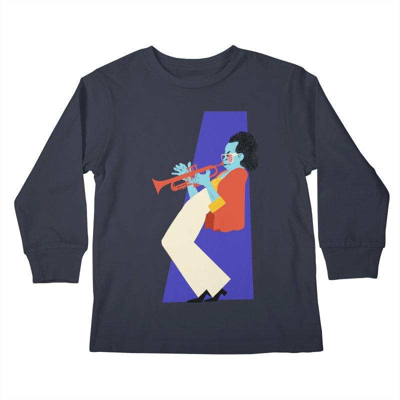 Miles Davis Kids Longsleeve T-Shirt by Kanjano Shop