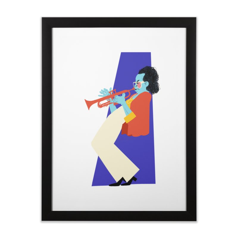 Miles Davis Home Framed Fine Art Print by Kanjano Shop