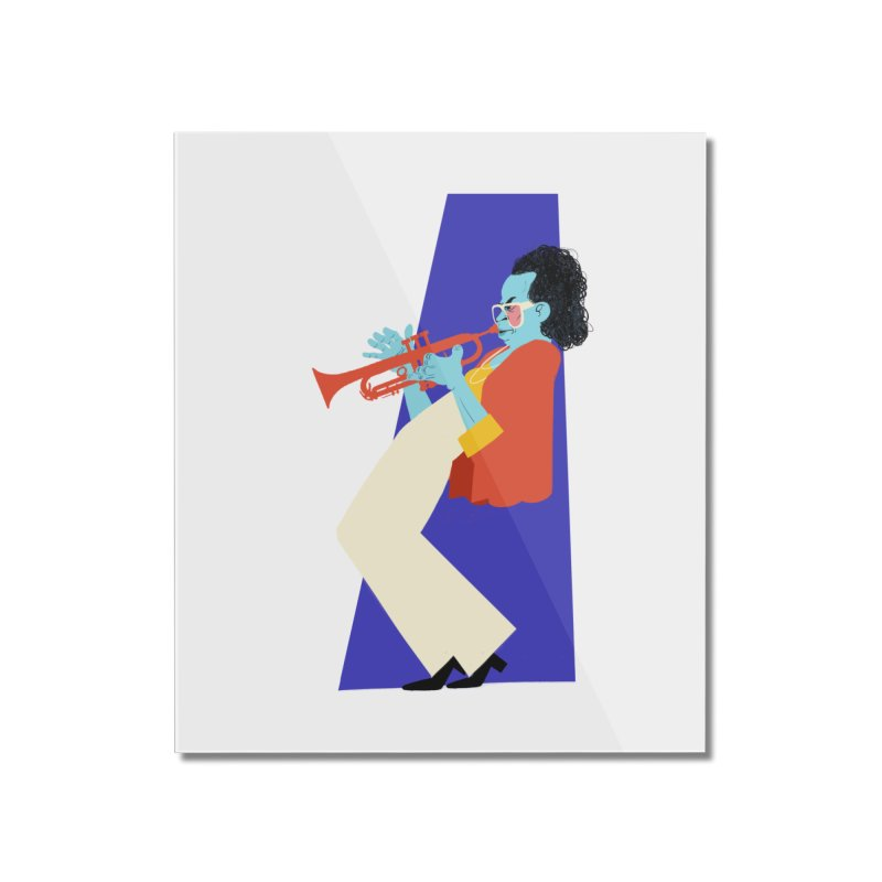 Miles Davis Home Mounted Acrylic Print by Kanjano Shop