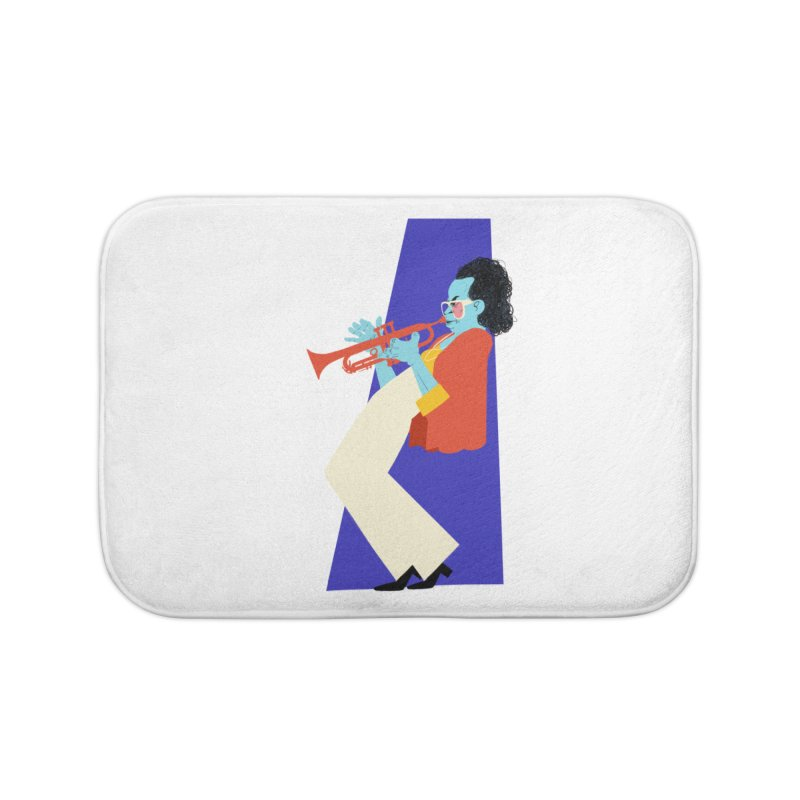 Miles Davis Home Bath Mat by Kanjano Shop