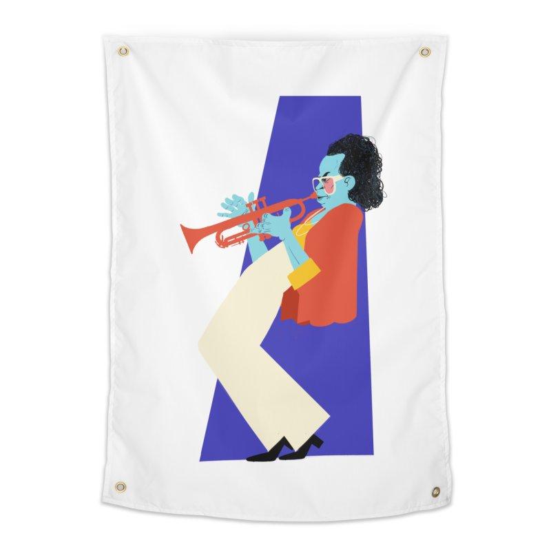 Miles Davis Home Tapestry by Kanjano Shop
