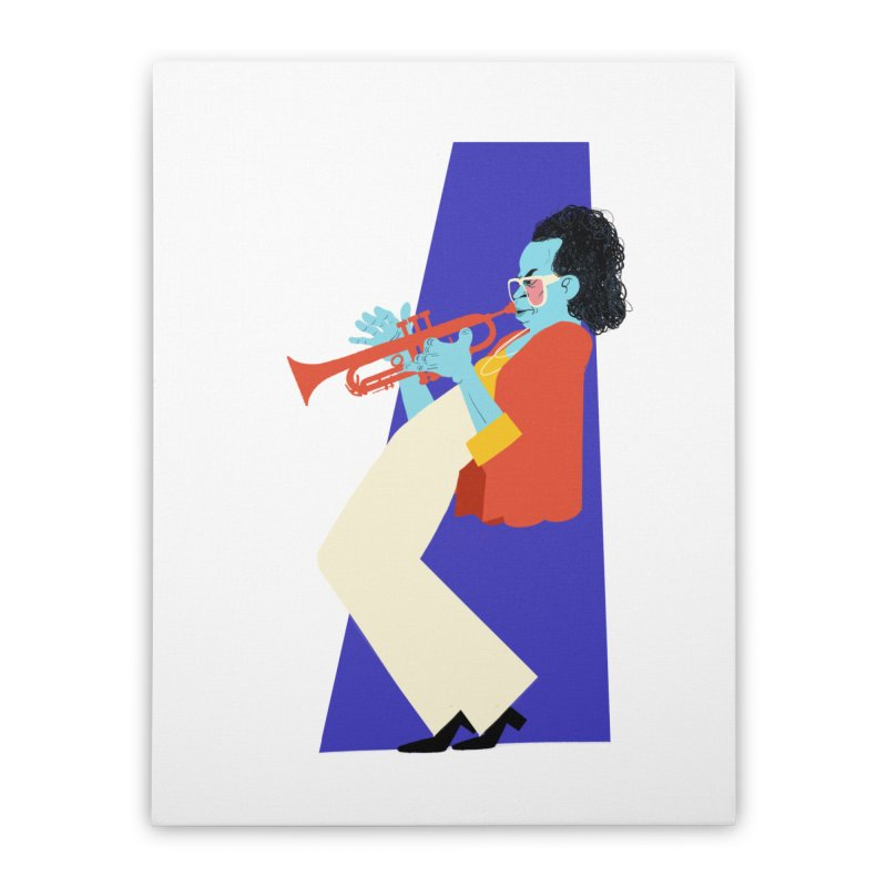Miles Davis Home Stretched Canvas by Kanjano Shop