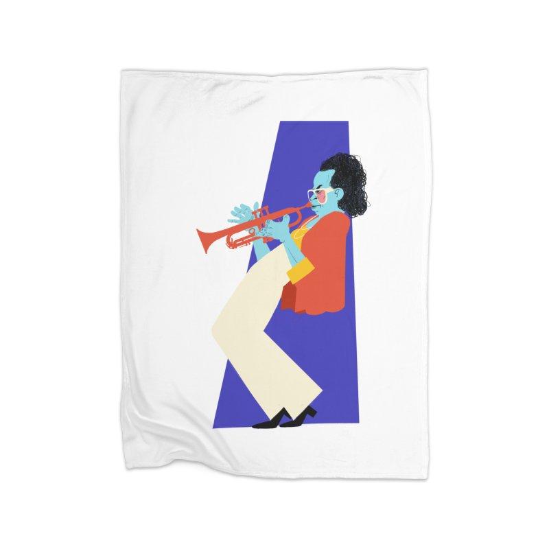 Miles Davis Home Blanket by Kanjano Shop