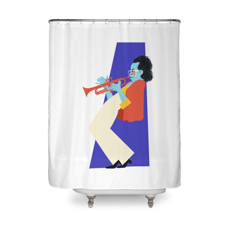 Miles Davis Home Shower Curtain by Kanjano Shop