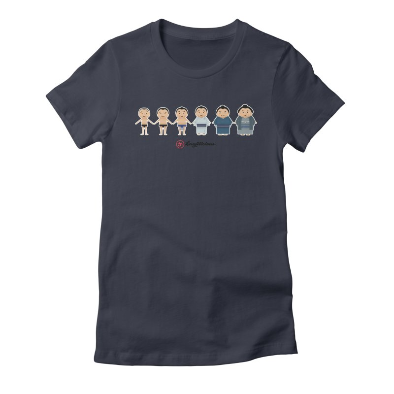 Sumo Evolution Women's Fitted T-Shirt by Kanjilicious Artist Shop