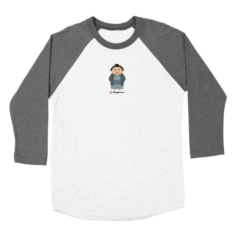 Yokozuna in Women's Baseball Triblend Longsleeve T-Shirt Tri-Grey Sleeves by Kanjilicious Artist Shop