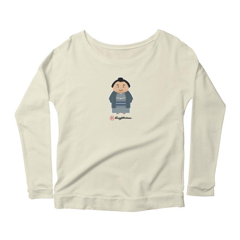 Yokozuna Women's Scoop Neck Longsleeve T-Shirt by Kanjilicious Artist Shop