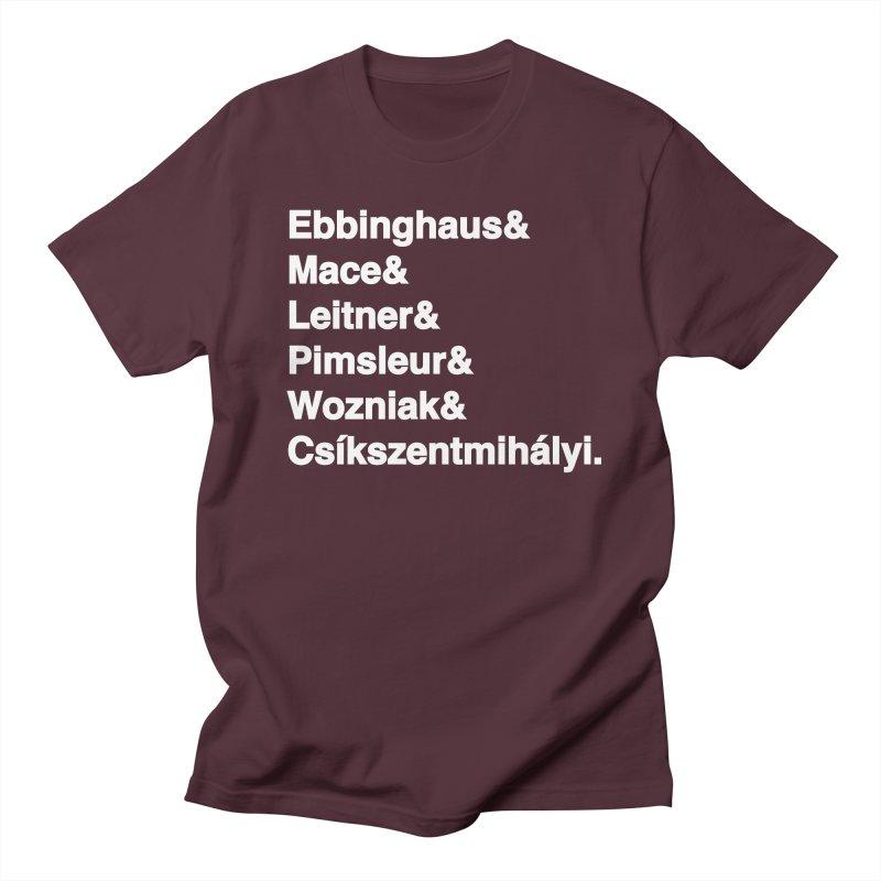 Memory Gurus (Helvetica List) Men's T-Shirt by Kanjilicious Artist Shop