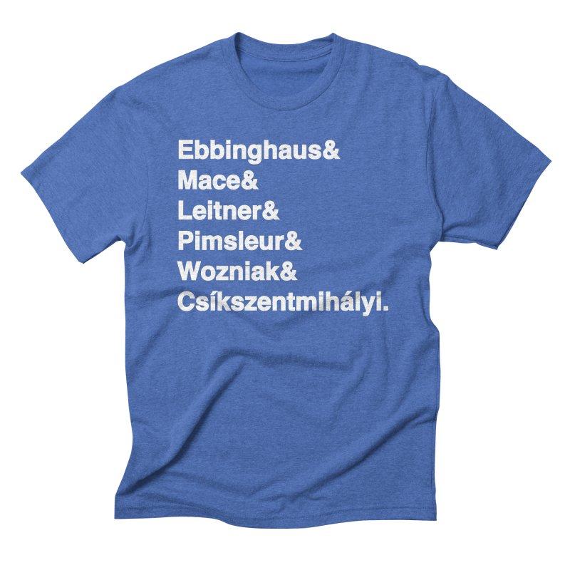 Memory Gurus (Helvetica List) Men's Triblend T-Shirt by Kanjilicious Artist Shop