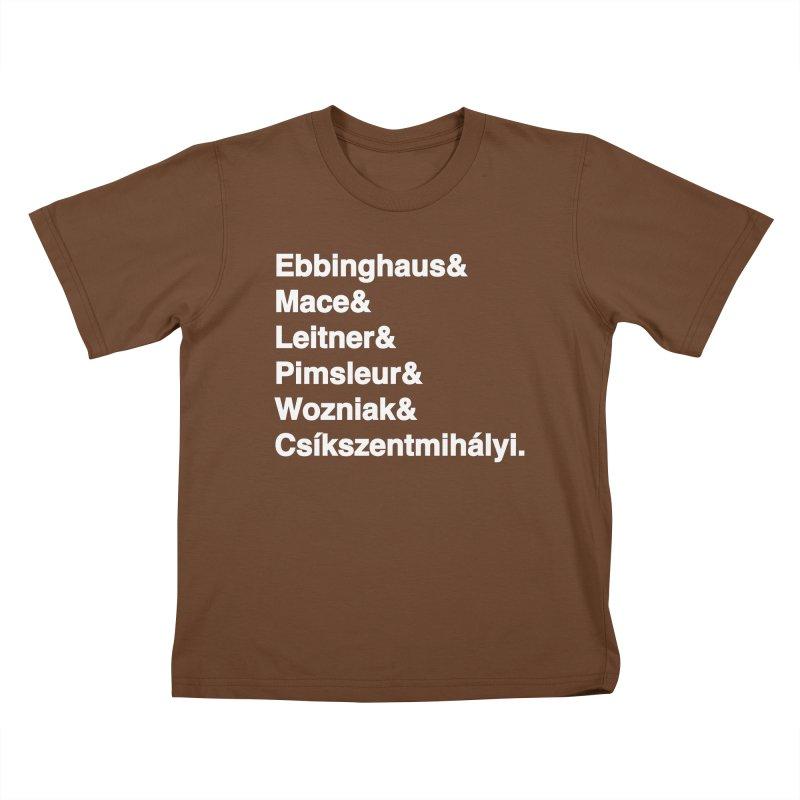Memory Gurus (Helvetica List) Kids T-Shirt by Kanjilicious Artist Shop