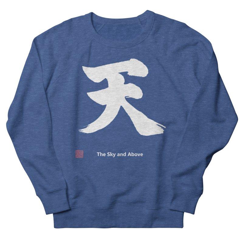 """The Sky and Above"" (Ten) Japanese (White Kanji) with Stamp and English text Men's Sweatshirt by KansaiChick Japanese Kanji Shop"