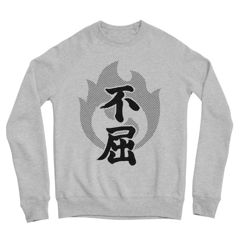 Never Give Up (Fukutsu) Kanji On Fire Women's Sponge Fleece Sweatshirt by KansaiChick Japanese Kanji Shop