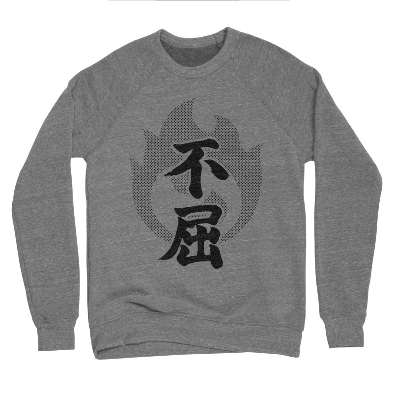 Never Give Up (Fukutsu) Kanji On Fire Women's Sponge Fleece Sweatshirt by KansaiChick Japanese Kanji Shop