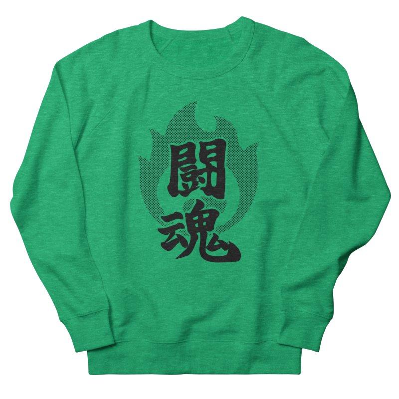 Fighting Spirit (Toukon) Kanji On Fire Women's Sweatshirt by KansaiChick Japanese Kanji Shop