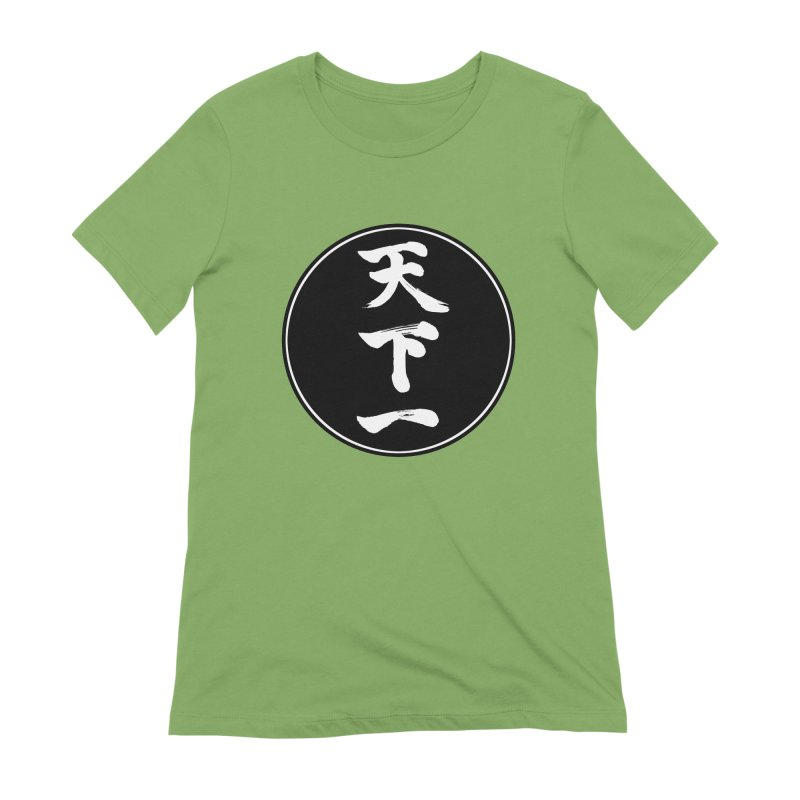#1 Under Heaven (Tenkaichi) Kanji Circle Pop Art Women's Extra Soft T-Shirt by KansaiChick Japanese Kanji Shop