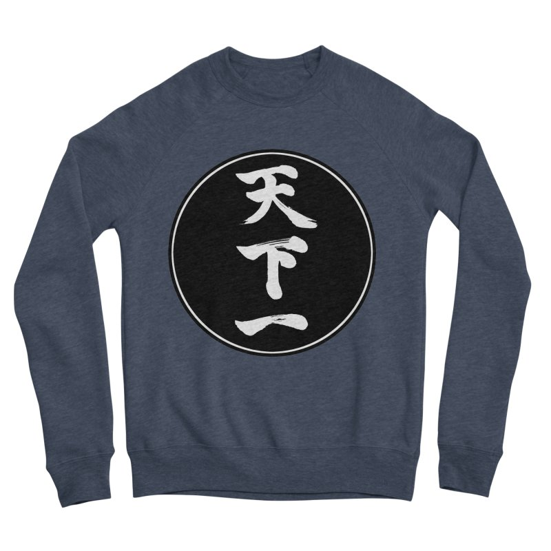 #1 Under Heaven (Tenkaichi) Kanji Circle Pop Art Men's Sponge Fleece Sweatshirt by KansaiChick Japanese Kanji Shop