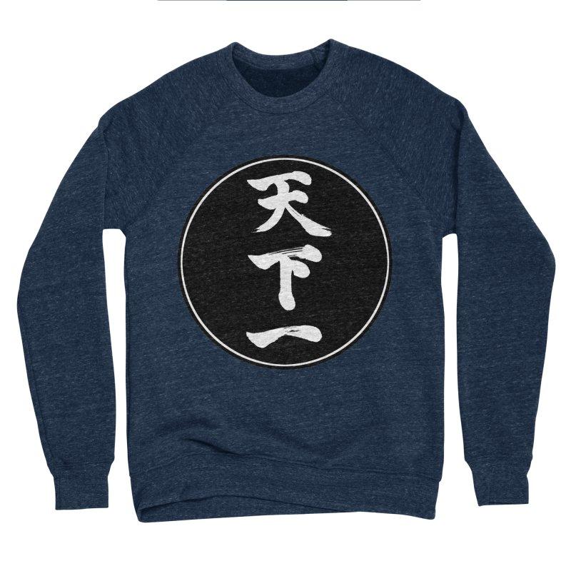 #1 Under Heaven (Tenkaichi) Kanji Circle Pop Art Women's Sponge Fleece Sweatshirt by KansaiChick Japanese Kanji Shop