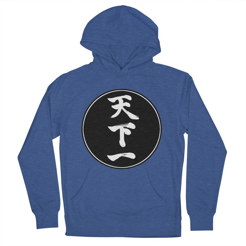 #1 Under Heaven (Tenkaichi) Kanji Circle Pop Art Women's French Terry Pullover Hoody by KansaiChick Japanese Kanji Shop