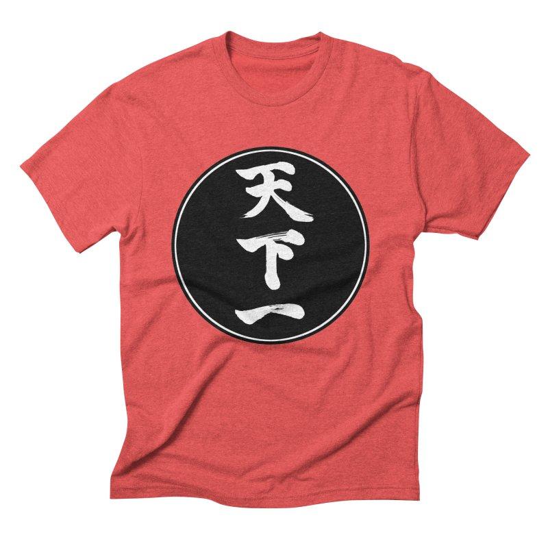 #1 Under Heaven (Tenkaichi) Kanji Circle Pop Art Men's Triblend T-Shirt by KansaiChick Japanese Kanji Shop
