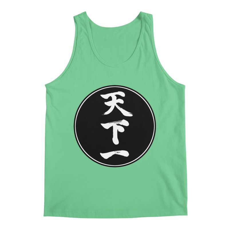 #1 Under Heaven (Tenkaichi) Kanji Circle Pop Art Men's Regular Tank by KansaiChick Japanese Kanji Shop