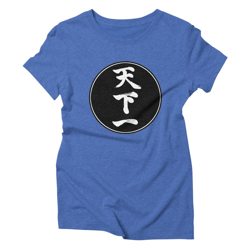 #1 Under Heaven (Tenkaichi) Kanji Circle Pop Art Women's Triblend T-Shirt by KansaiChick Japanese Kanji Shop