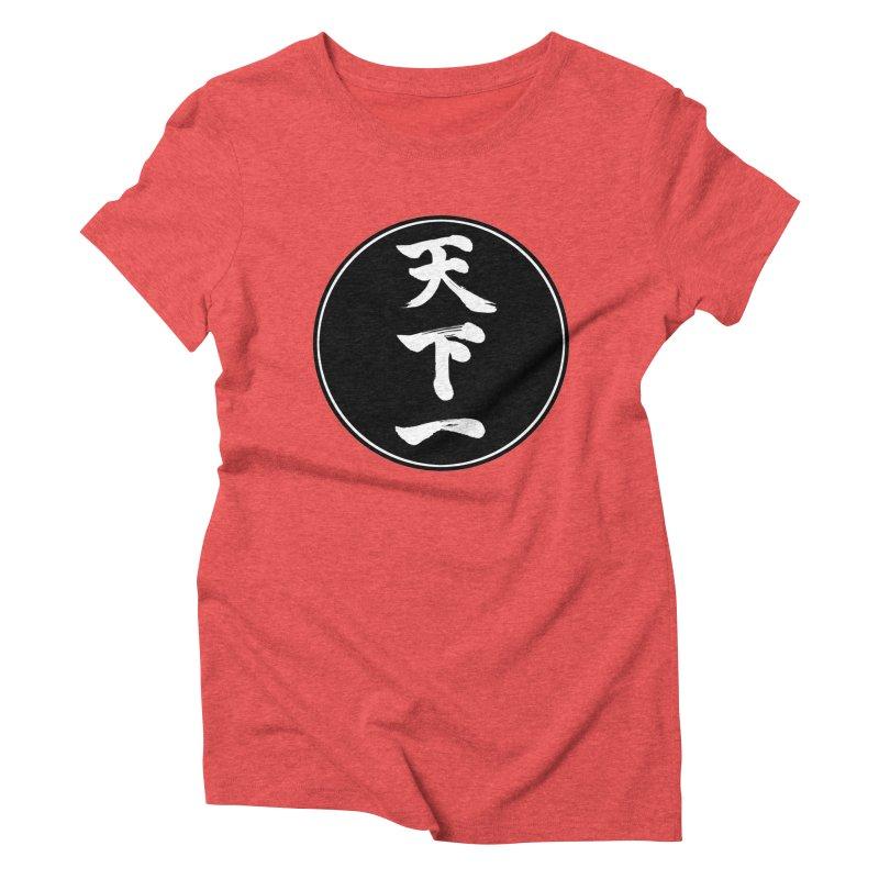 #1 Under Heaven (Tenkaichi) Kanji Circle Pop Art Women's Triblend T-Shirt by KansaiChick Japanese Kanji Shop