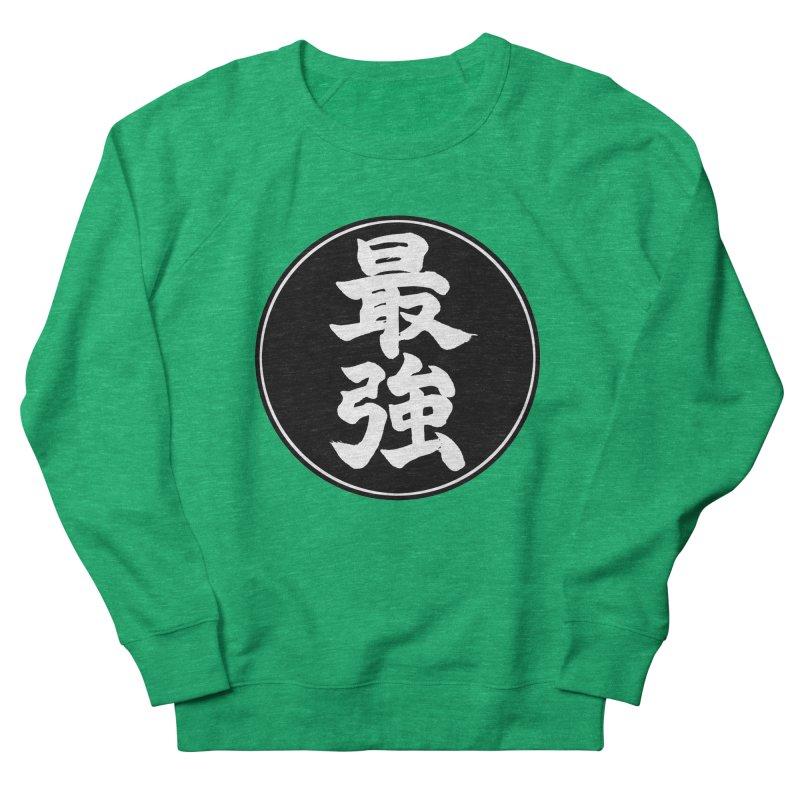 Strongest (Saikyou) Kanji Circle Pop Art Women's Sweatshirt by KansaiChick Japanese Kanji Shop