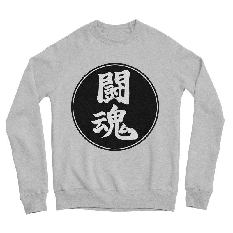 Fighting Spirit (Toukon) Kanji Circle Pop Art Men's Sponge Fleece Sweatshirt by KansaiChick Japanese Kanji Shop