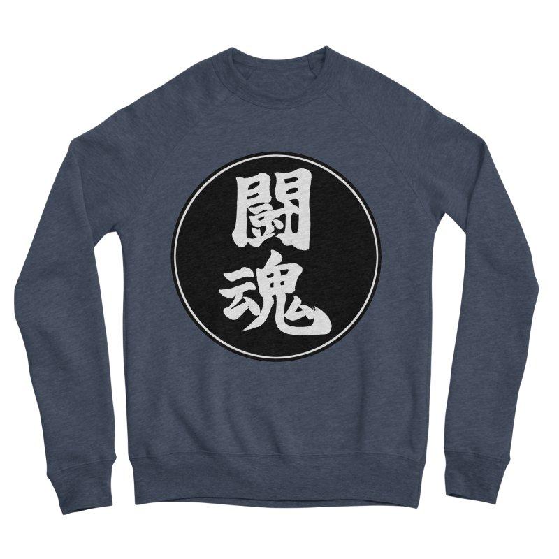 Fighting Spirit (Toukon) Kanji Circle Pop Art Women's Sponge Fleece Sweatshirt by KansaiChick Japanese Kanji Shop