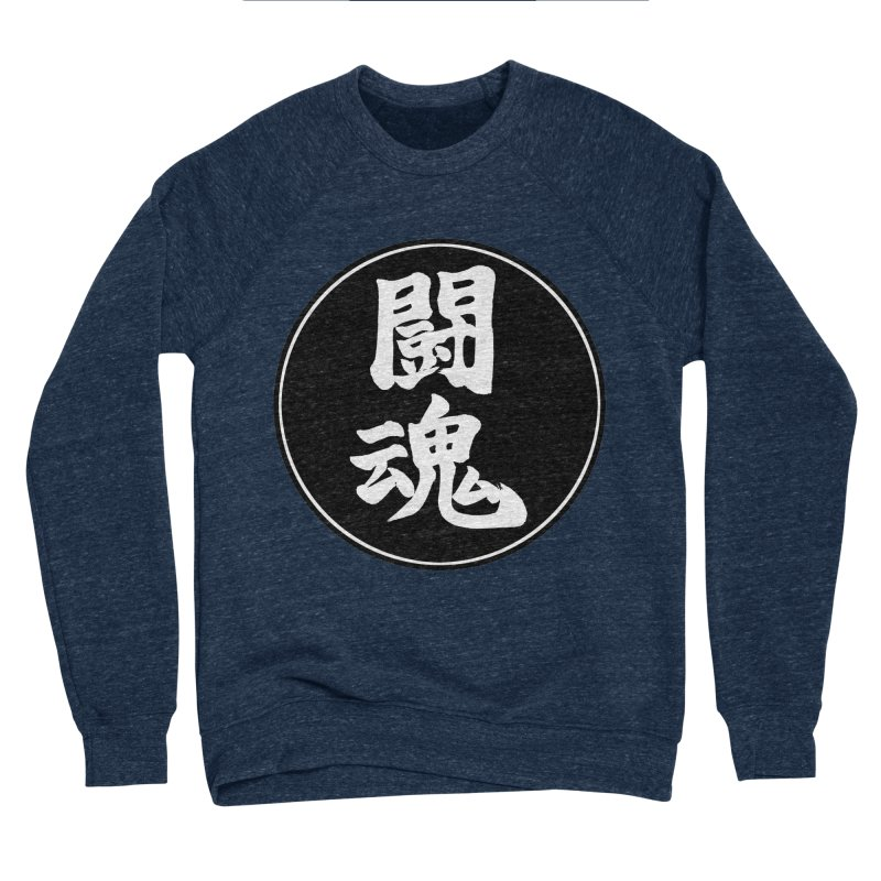 Fighting Spirit (Toukon) Kanji Circle Pop Art Women's Sponge Fleece Sweatshirt by KansaiChick Japanese Kanji Shop