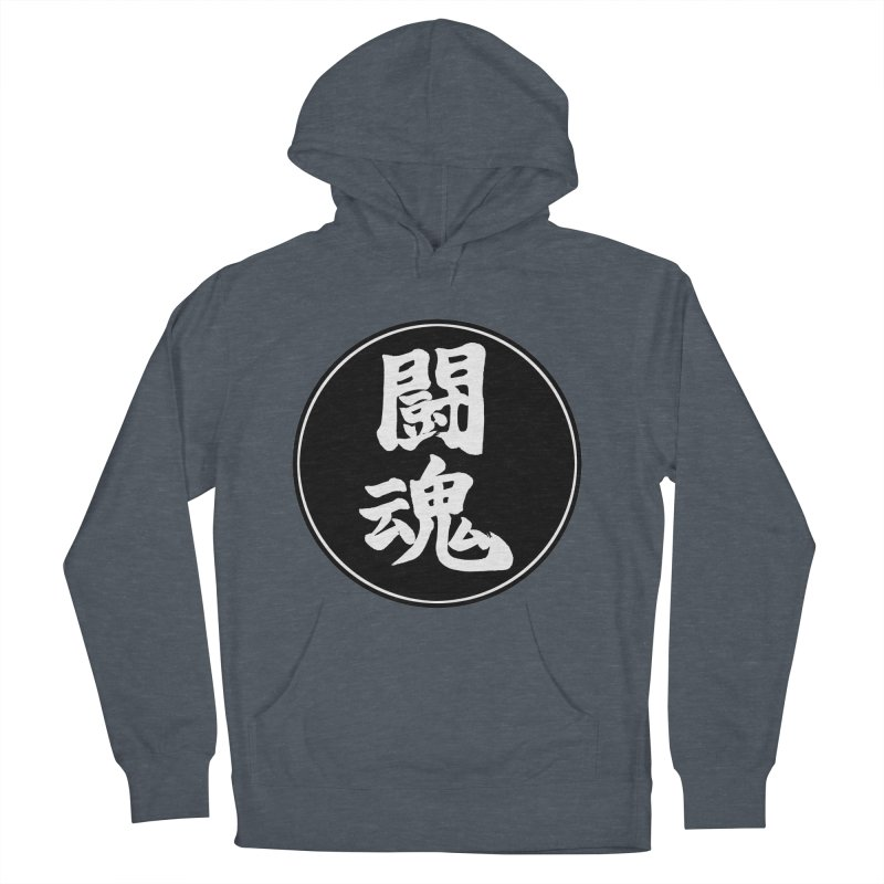 Fighting Spirit (Toukon) Kanji Circle Pop Art Women's French Terry Pullover Hoody by KansaiChick Japanese Kanji Shop