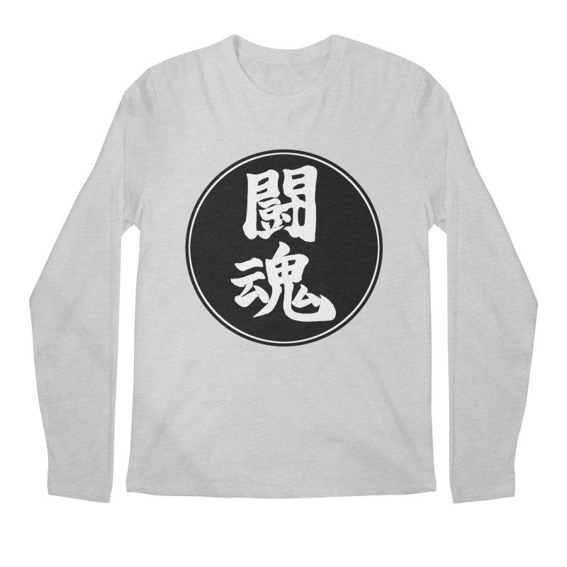 Fighting Spirit (Toukon) Kanji Circle Pop Art Men's Regular Longsleeve T-Shirt by KansaiChick Japanese Kanji Shop