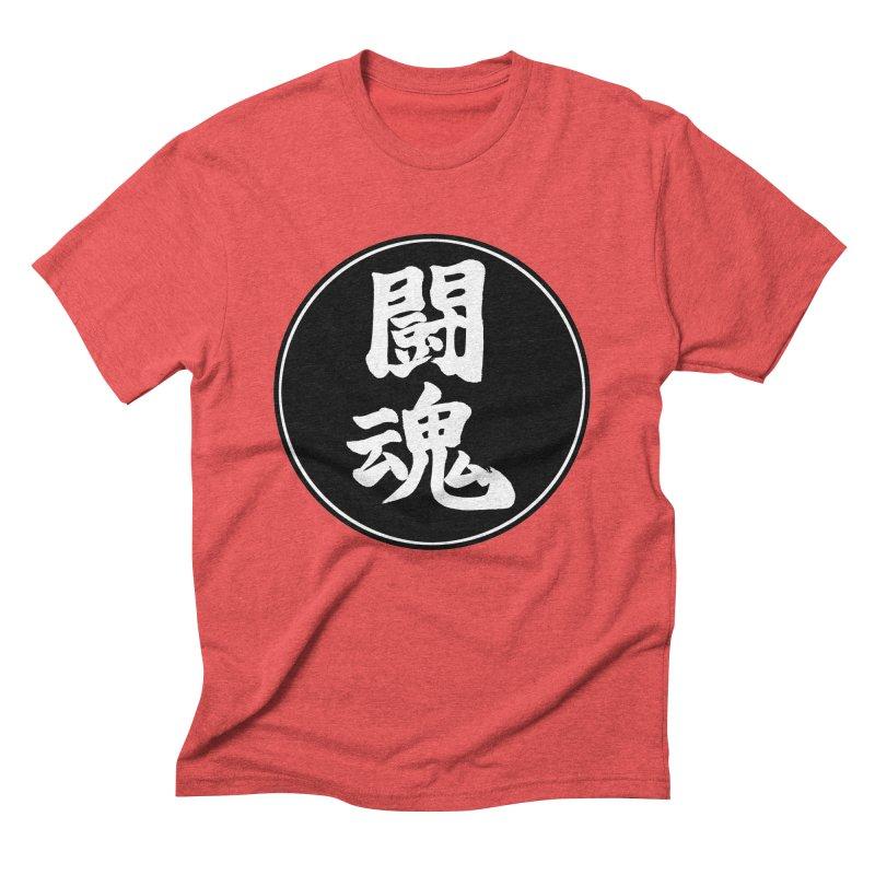 Fighting Spirit (Toukon) Kanji Circle Pop Art Men's Triblend T-Shirt by KansaiChick Japanese Kanji Shop