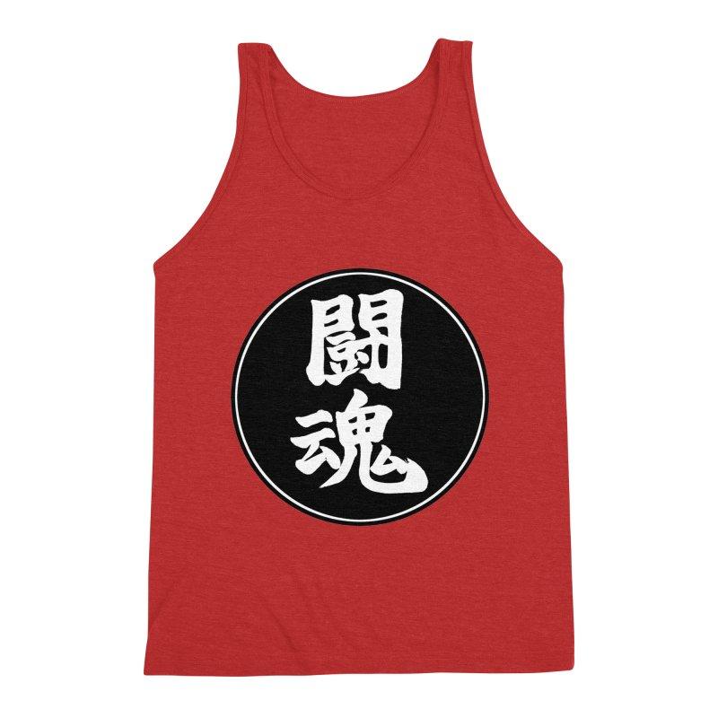 Fighting Spirit (Toukon) Kanji Circle Pop Art Men's Triblend Tank by KansaiChick Japanese Kanji Shop