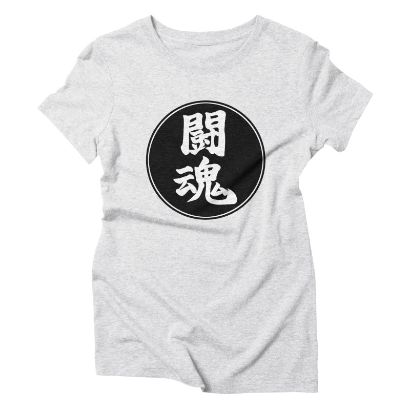 Fighting Spirit (Toukon) Kanji Circle Pop Art Women's Triblend T-Shirt by KansaiChick Japanese Kanji Shop