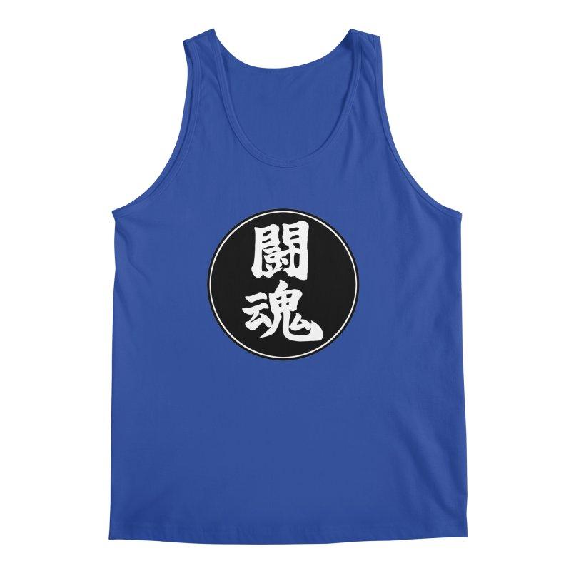 Fighting Spirit (Toukon) Kanji Circle Pop Art Men's Regular Tank by KansaiChick Japanese Kanji Shop