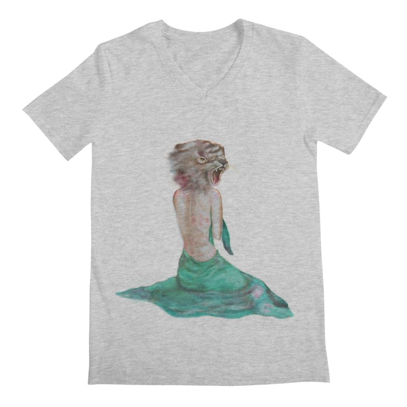 Beast Men's V-Neck by Karen Preston's Artist Shop