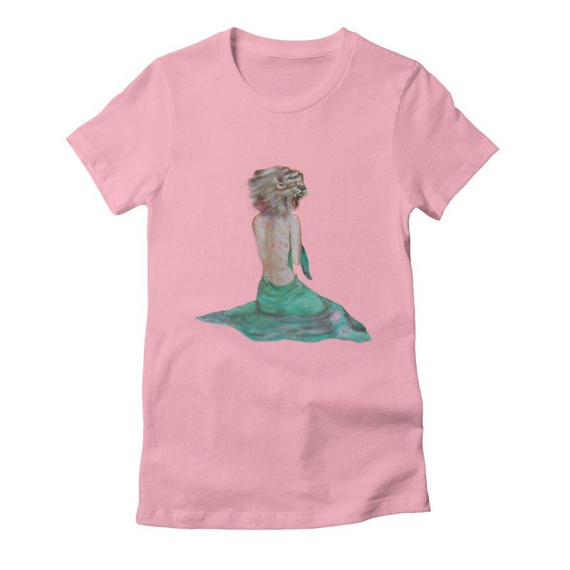 Beast Women's Fitted T-Shirt by Karen Preston's Artist Shop