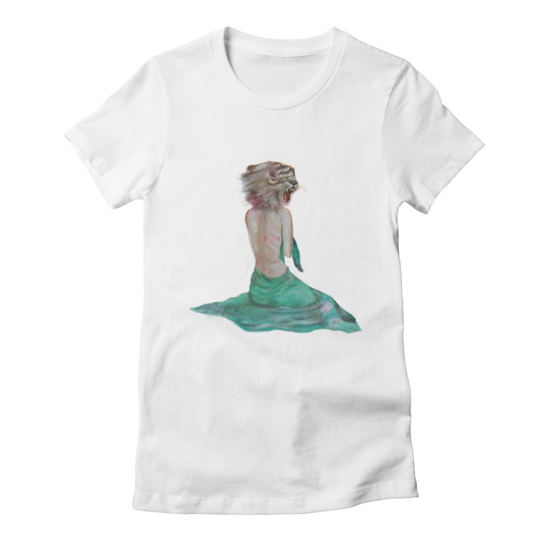 Beast Women's Fitted T-Shirt by Karen Preston's Artist Shop