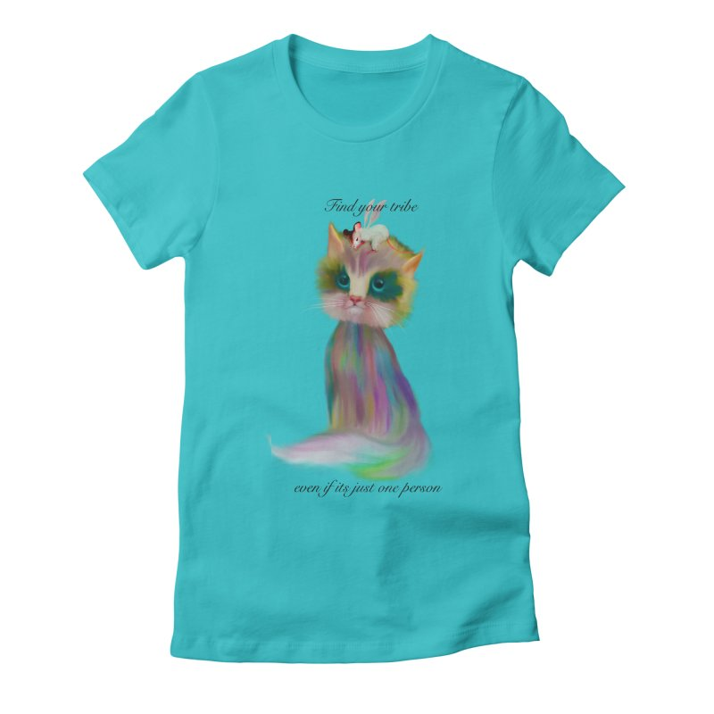 Tribe Women's Fitted T-Shirt by Karen Preston's Artist Shop