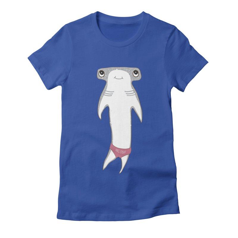 Big Fish Women's Fitted T-Shirt by Karen Preston's Artist Shop