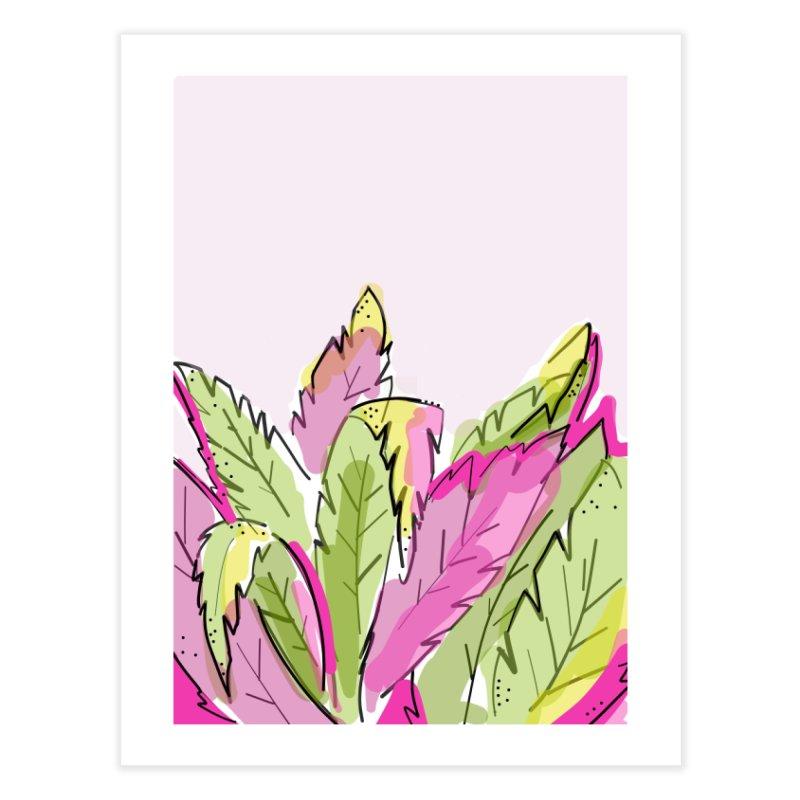 Palms on Pink Home Fine Art Print by Karley Kiker's Artist Shop