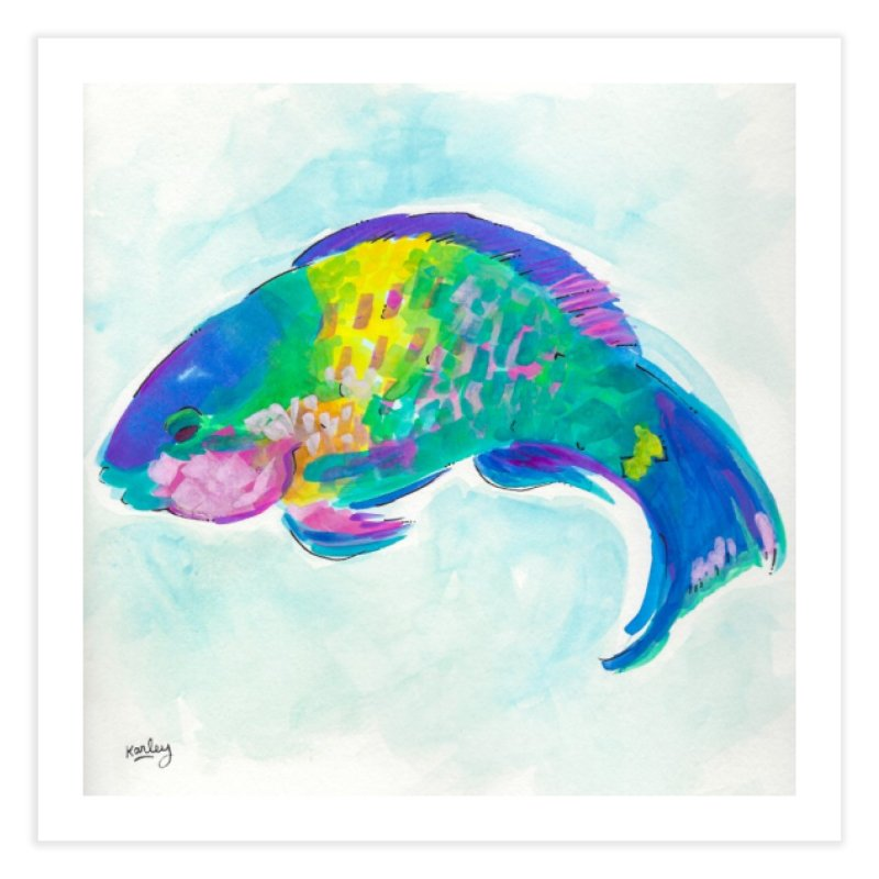 Parrotfish | Beach Art in Fine Art Print by Karley Kiker's Artist Shop