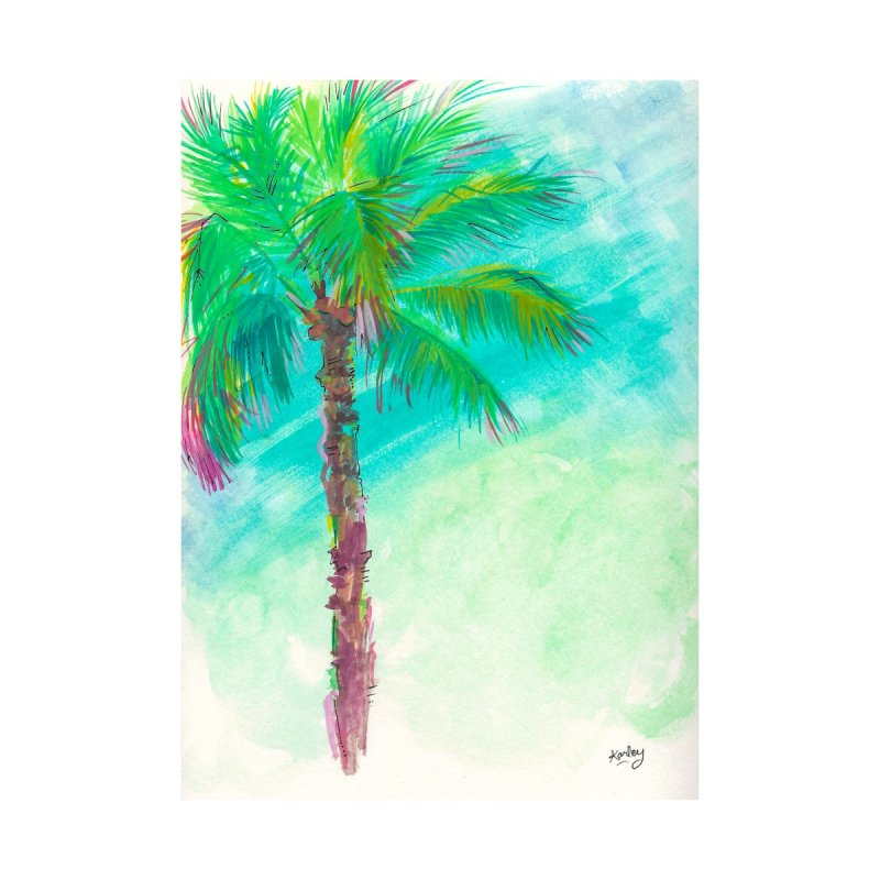 Palm Tree   Beach Art Home Fine Art Print by Karley Kiker's Artist Shop